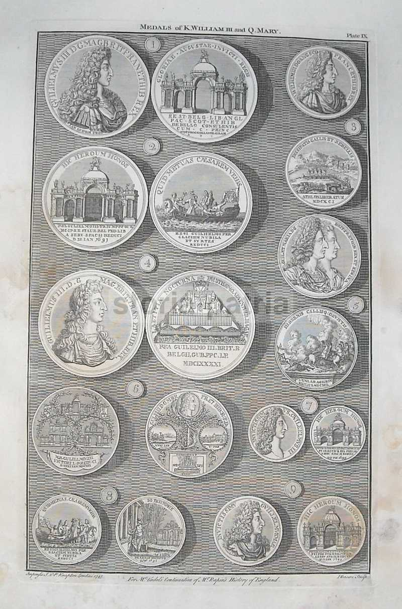 Araldica, Nobilta Anglosassone, King William Iii, Queen Mary, Incisore Basire, 1745 anteprima
